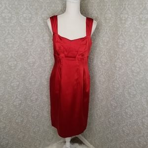 Calvin Klein Red Fitted Dress